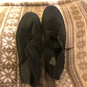 J. Crew Suede Chukka boots, Rubber soles.